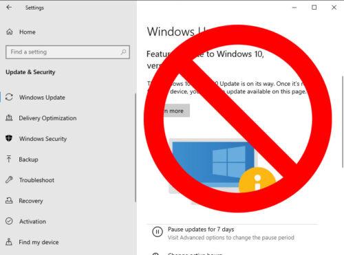 Bloquear las actualizaciones de Windows