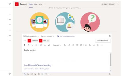 Reunión en varios canales de Microsoft Teams