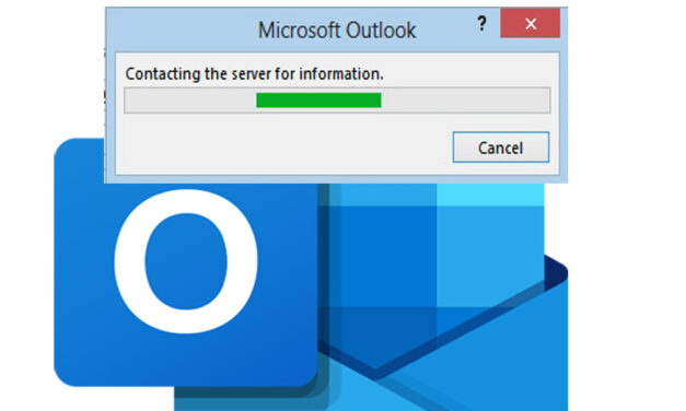 Outlook is contacting the server for information